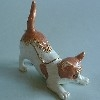 Brown/White Cat Enamel Trinket Box