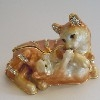Cats Enamel Trinket Box